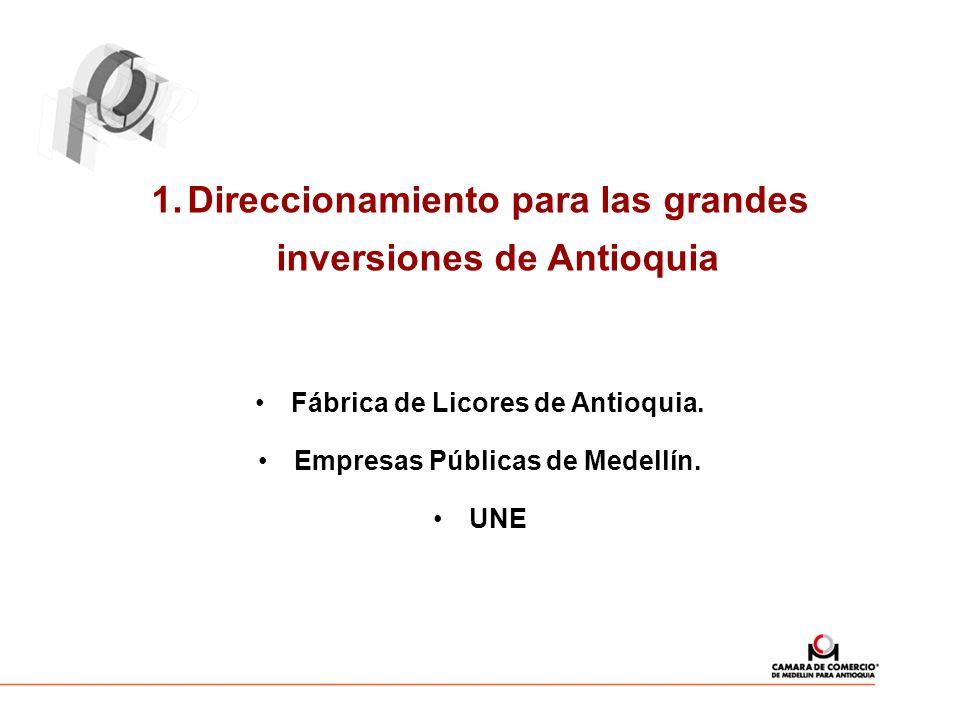 Direccionamiento para las grandes inversiones de Antioquia