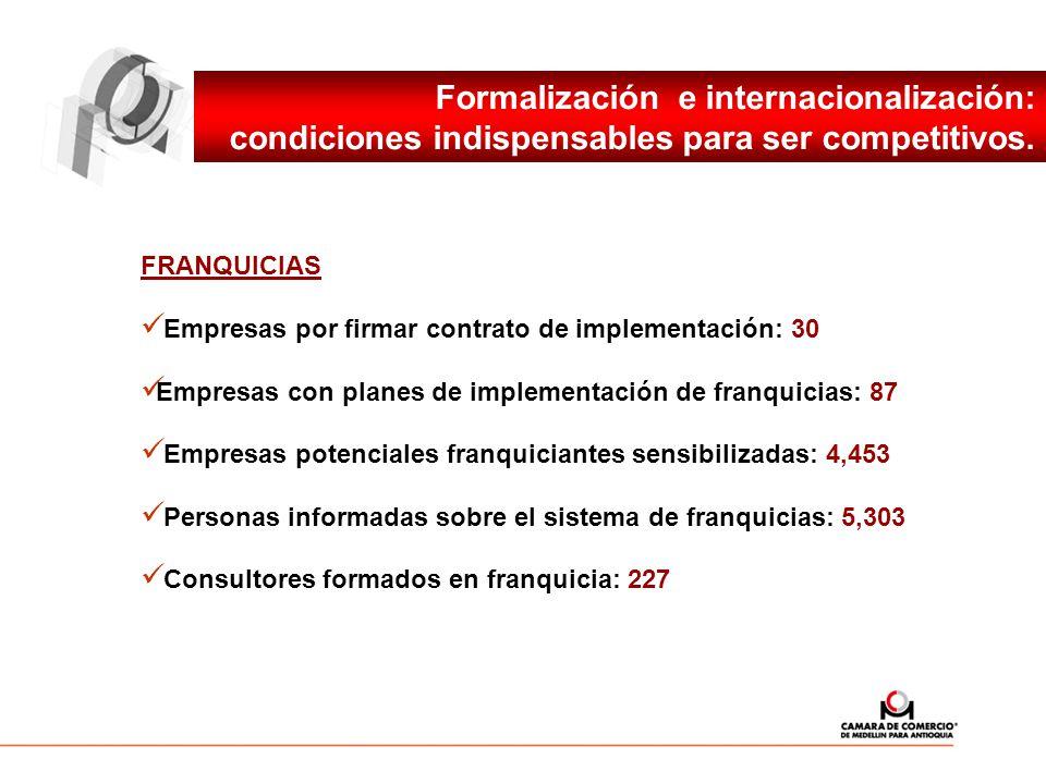 Formalización e internacionalización: