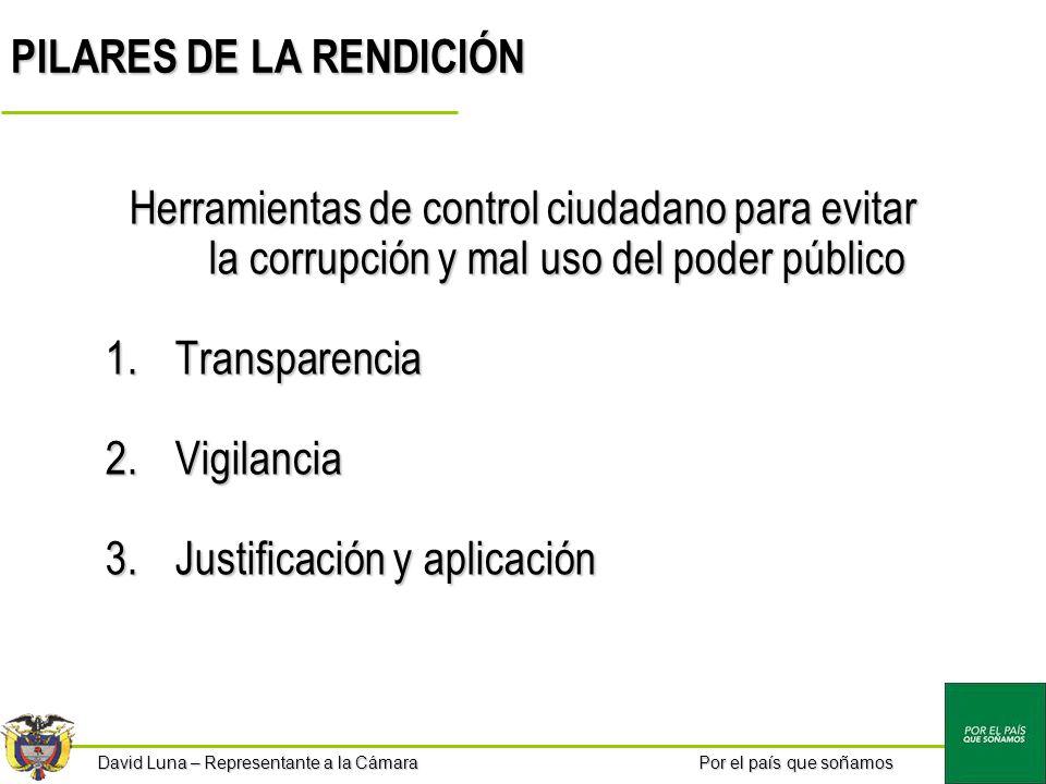 PILARES DE LA RENDICIÓN