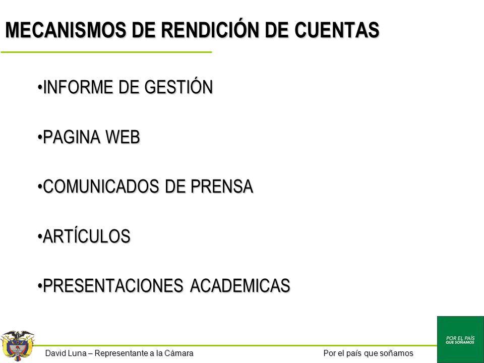 MECANISMOS DE RENDICIÓN DE CUENTAS