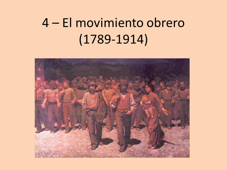 4 – El movimiento obrero (1789-1914)