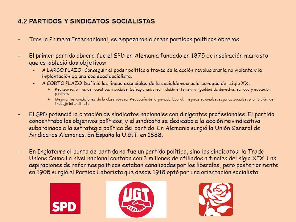 4.2 PARTIDOS Y SINDICATOS SOCIALISTAS