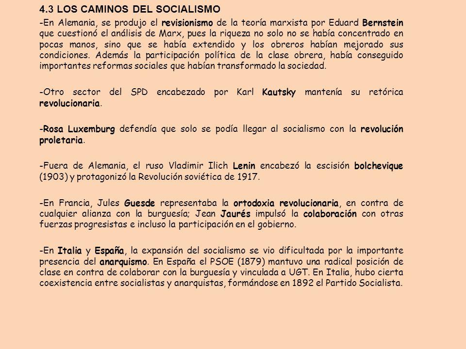 4.3 LOS CAMINOS DEL SOCIALISMO