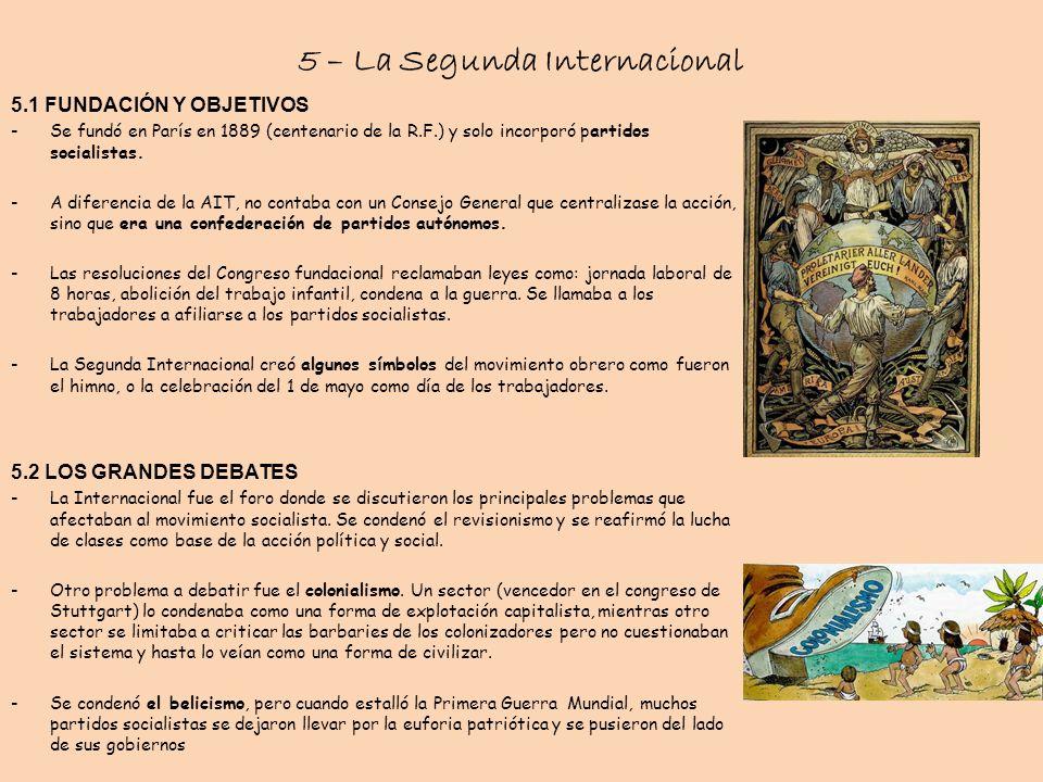 5 – La Segunda Internacional