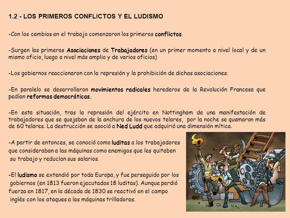 1.2 - LOS PRIMEROS CONFLICTOS Y EL LUDISMO