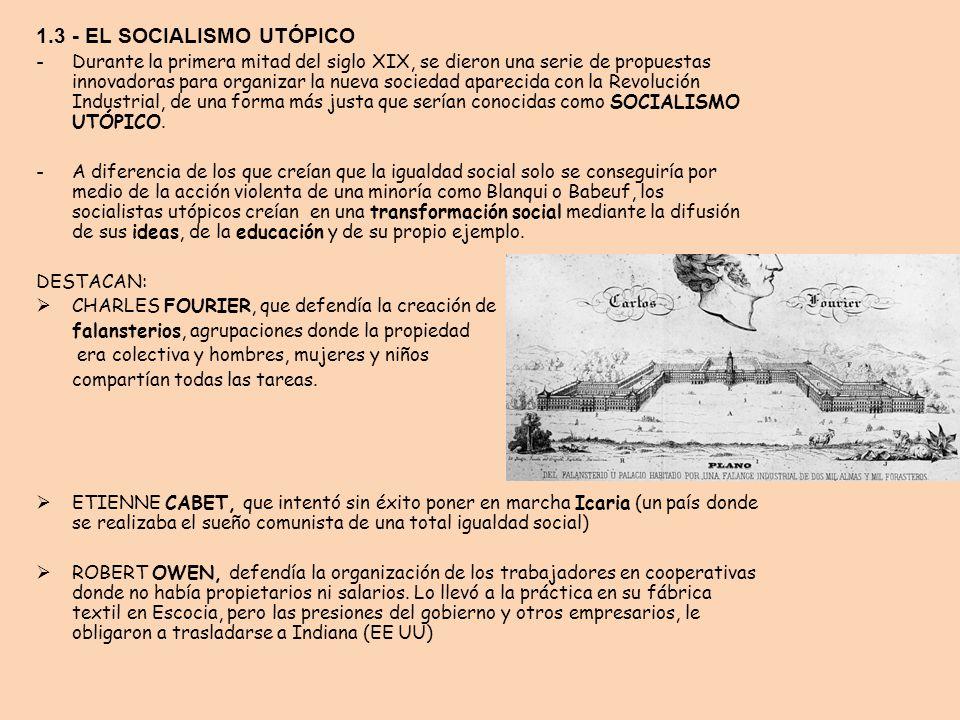 1.3 - EL SOCIALISMO UTÓPICO