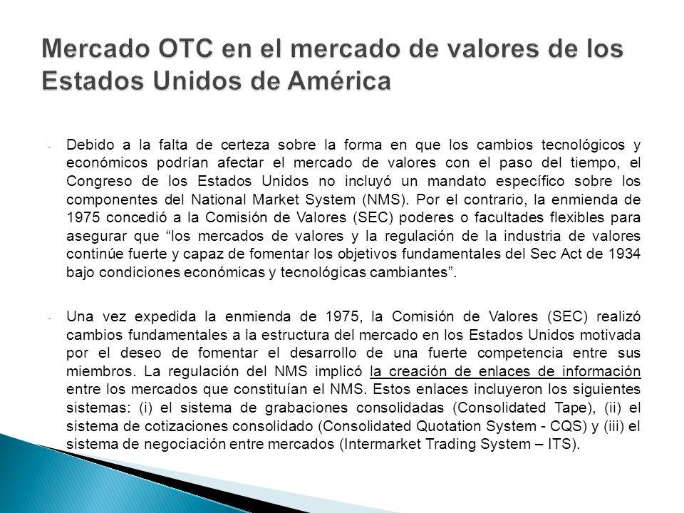 Mercado OTC en el mercado de valores de los Estados Unidos de América