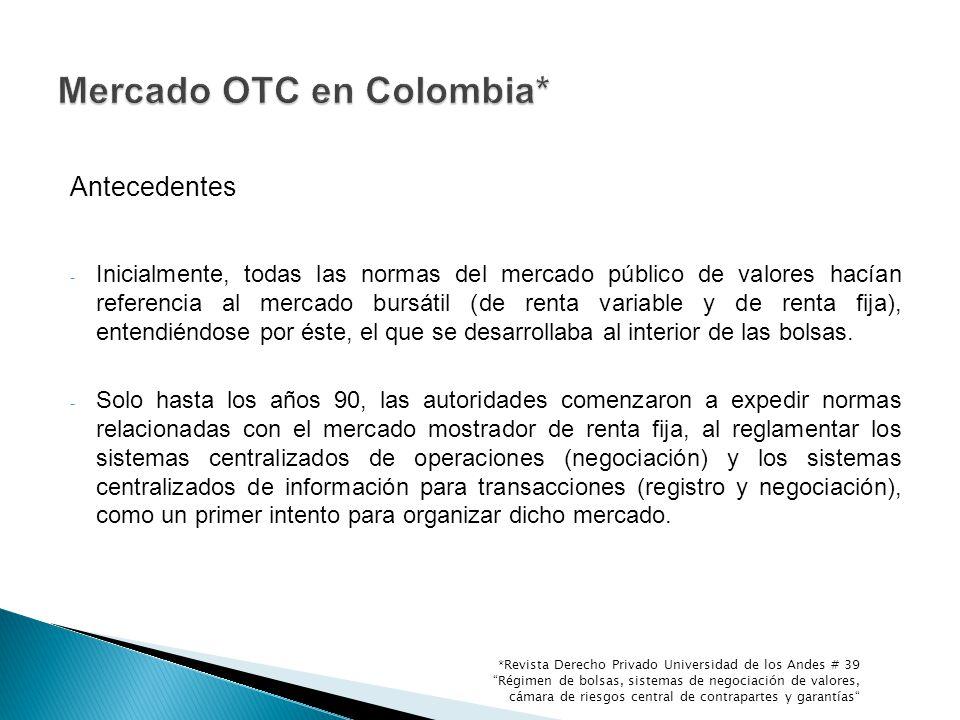Mercado OTC en Colombia*