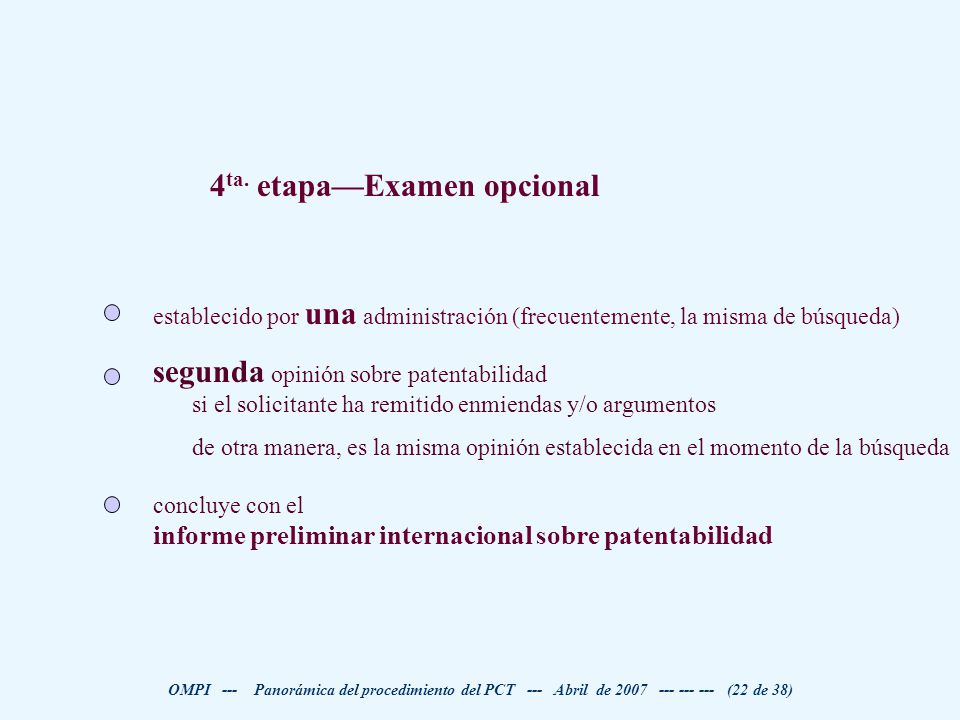 4ta. etapa—Examen opcional
