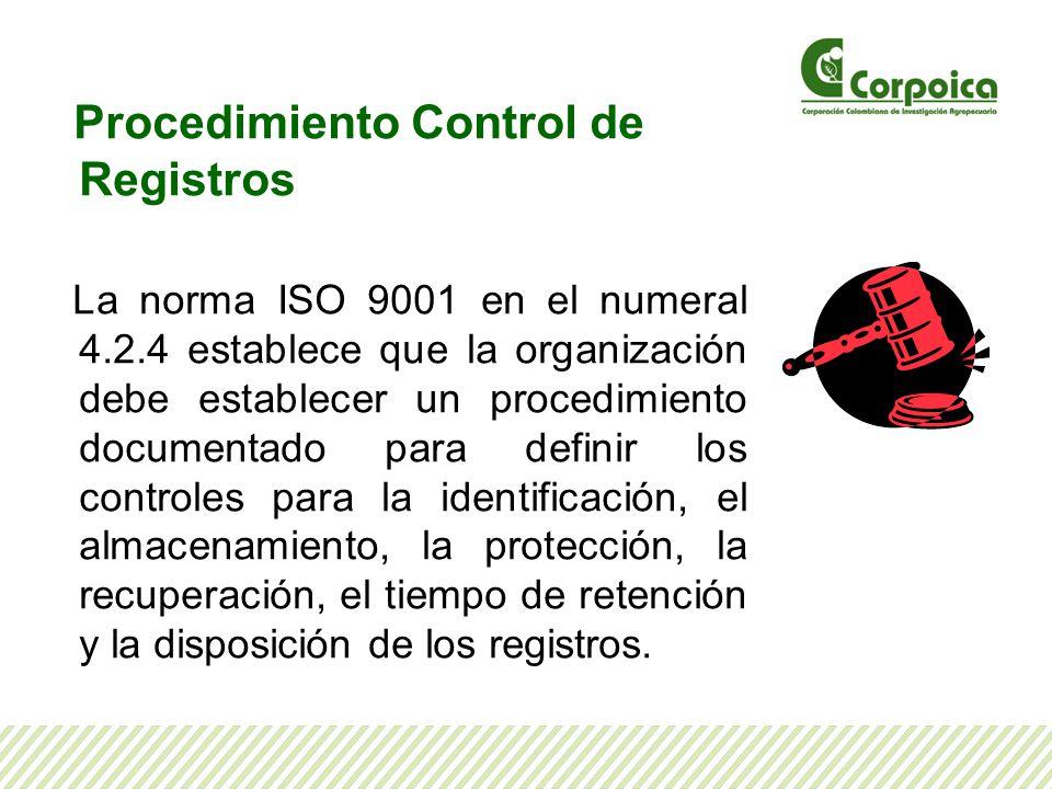 Procedimiento Control de Registros