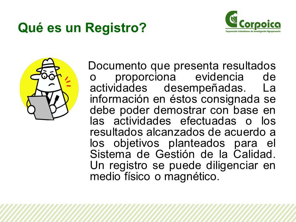Qué es un Registro