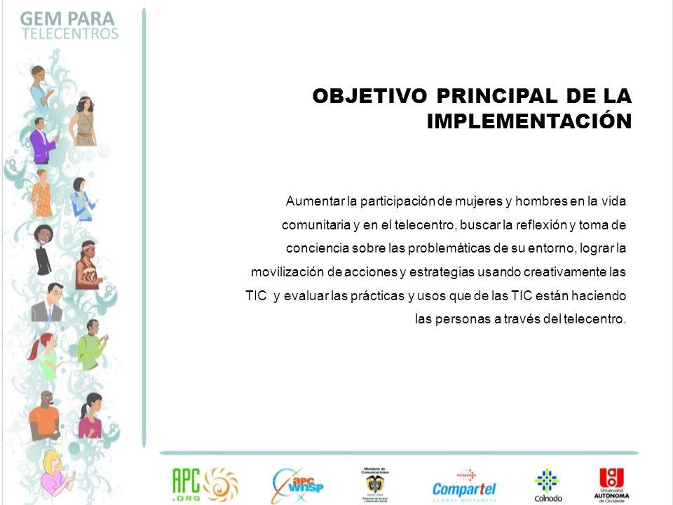 OBJETIVO PRINCIPAL DE LA IMPLEMENTACIÓN