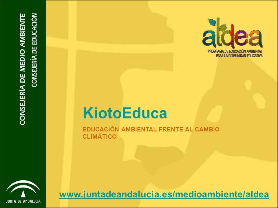 KiotoEduca www.juntadeandalucia.es/medioambiente/aldea