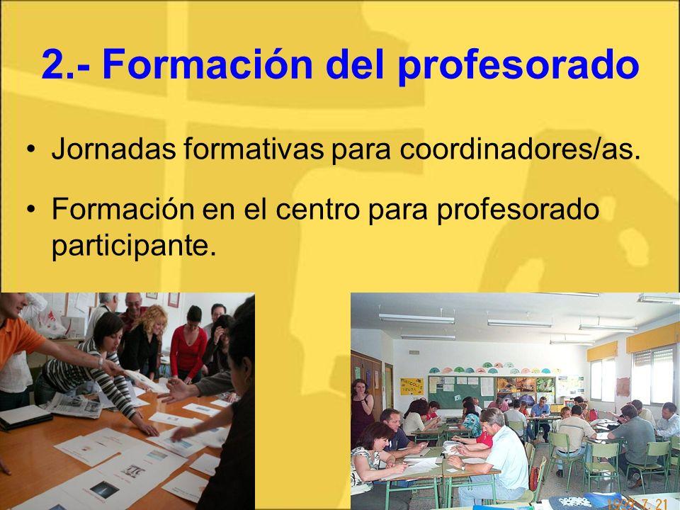 2.- Formación del profesorado
