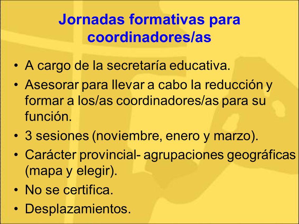 Jornadas formativas para coordinadores/as