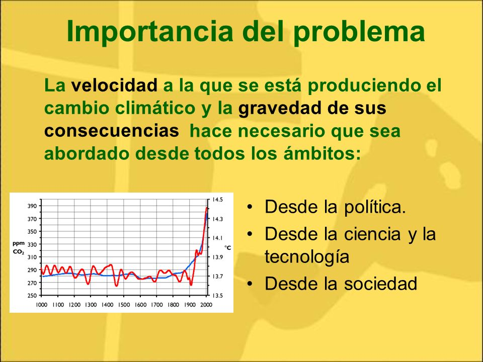 Importancia del problema