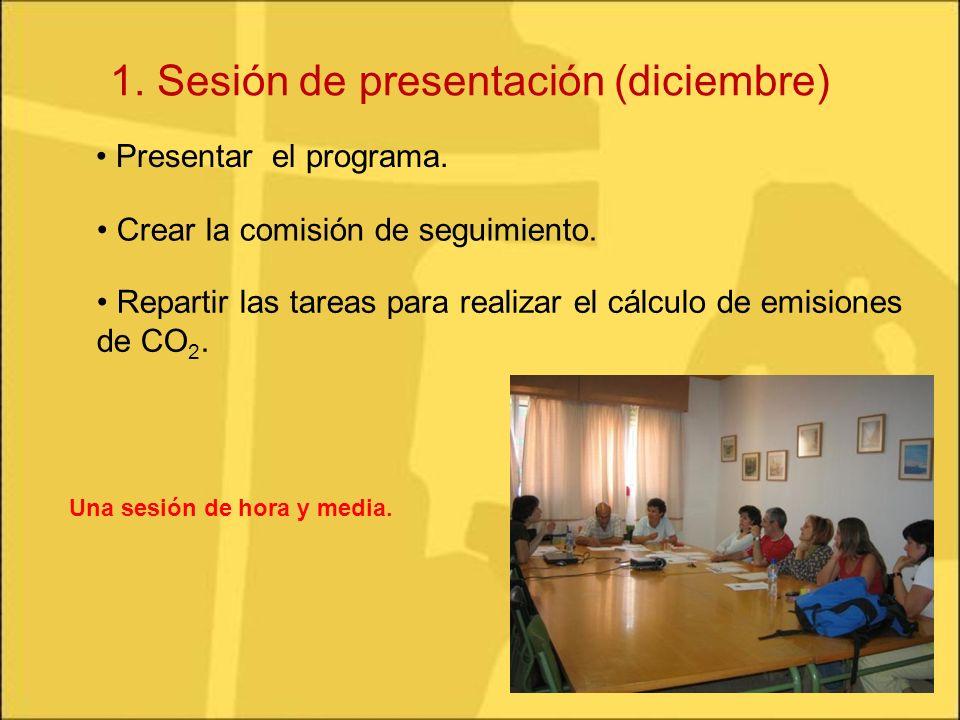 1. Sesión de presentación (diciembre)
