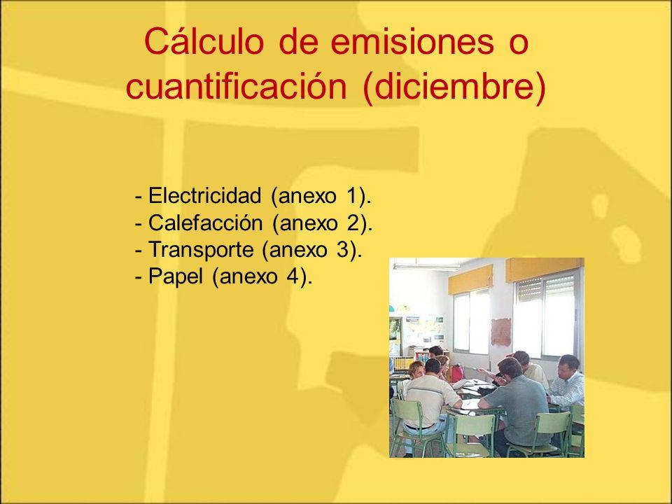 Cálculo de emisiones o cuantificación (diciembre)