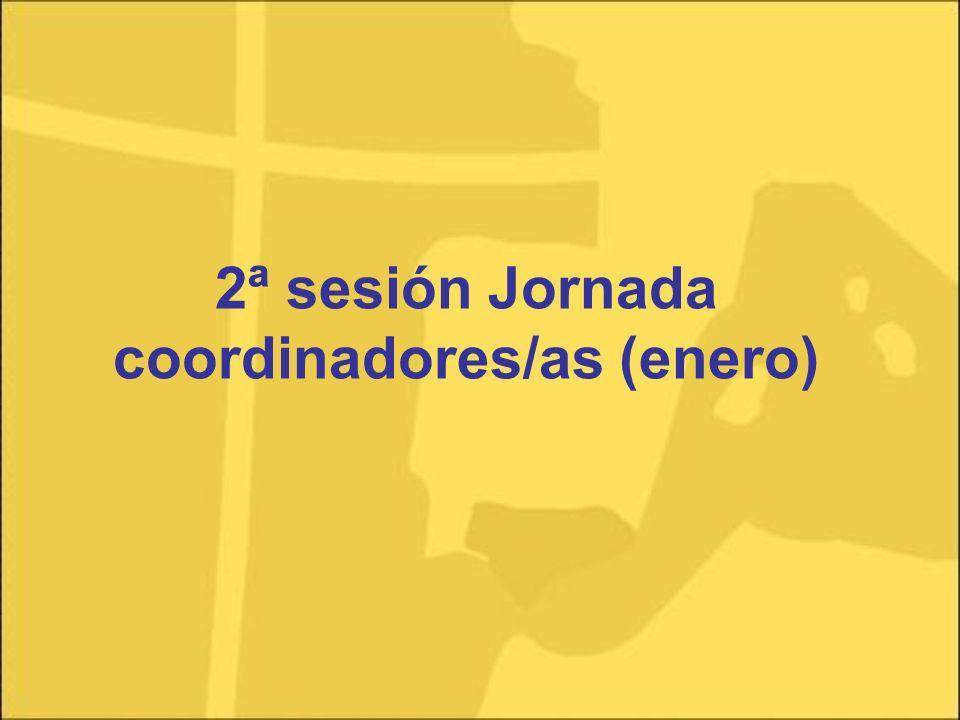 2ª sesión Jornada coordinadores/as (enero)