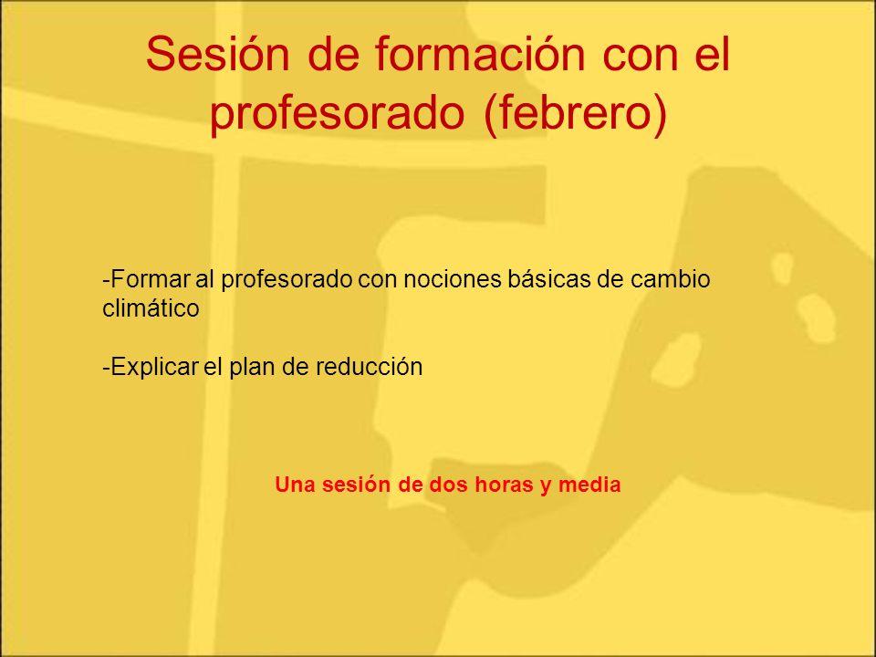 Sesión de formación con el profesorado (febrero)