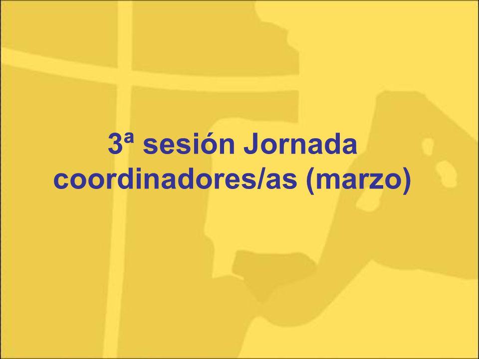 3ª sesión Jornada coordinadores/as (marzo)