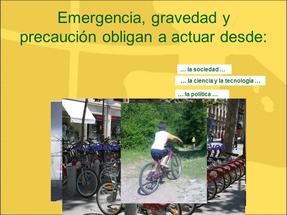 Emergencia, gravedad y precaución obligan a actuar desde: