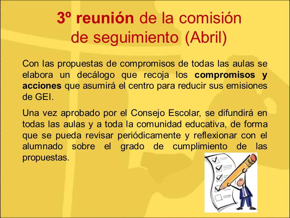 3º reunión de la comisión de seguimiento (Abril)
