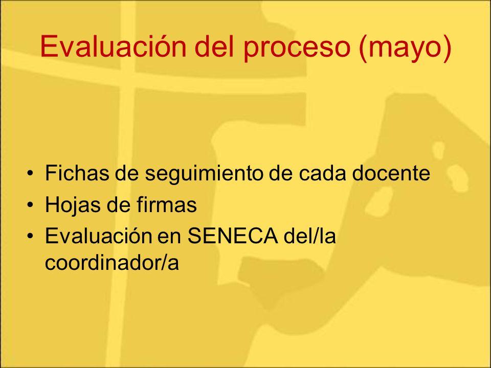 Evaluación del proceso (mayo)