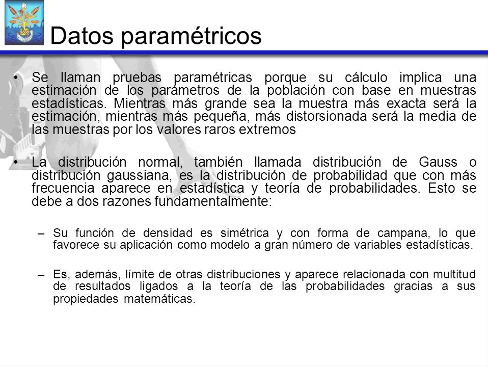 Datos paramétricos