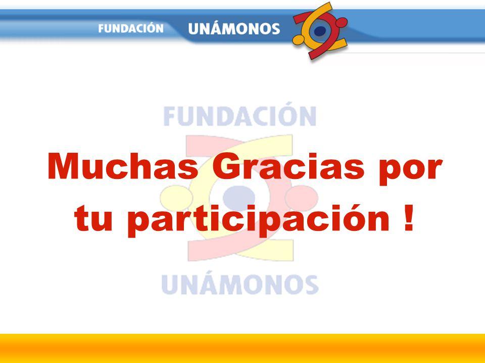 Muchas Gracias por tu participación !