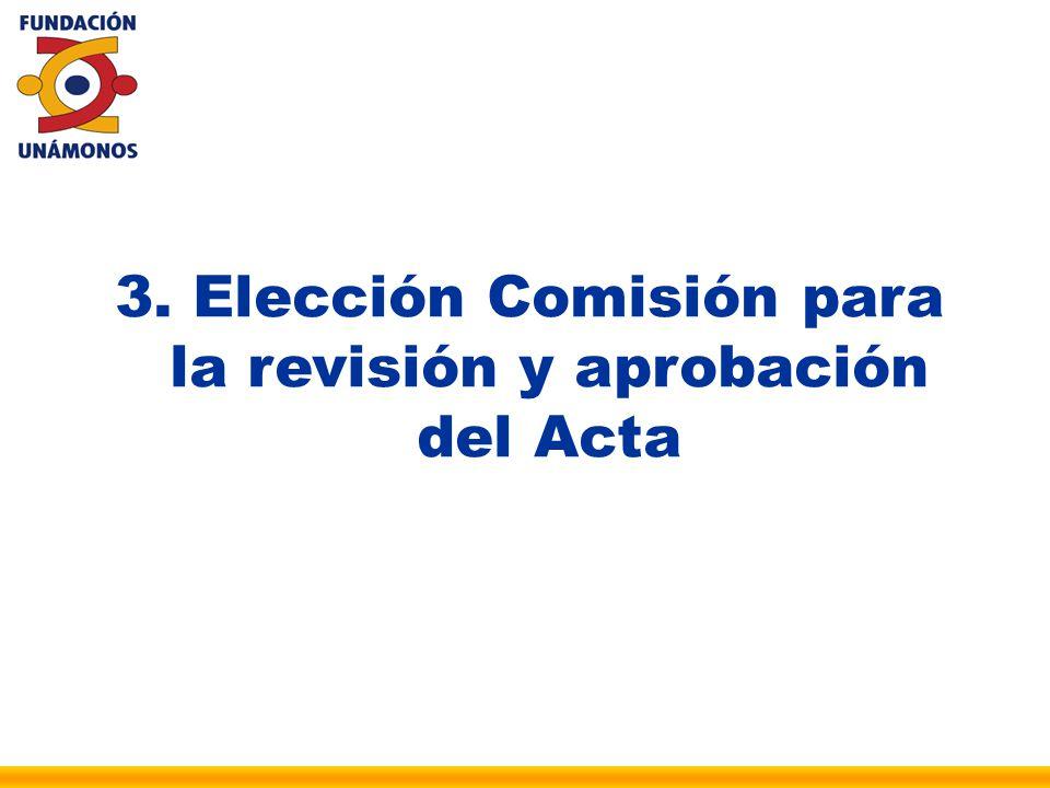 Elección Comisión para la revisión y aprobación del Acta