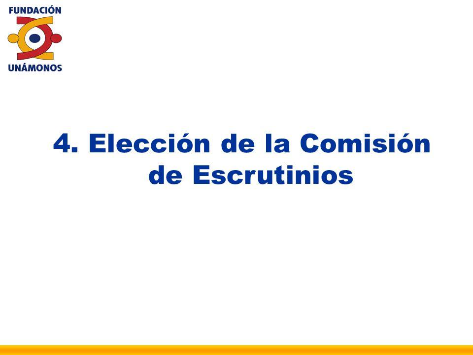 Elección de la Comisión de Escrutinios
