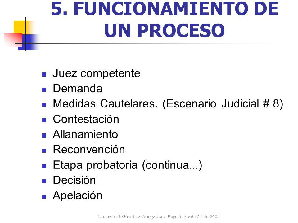 5. FUNCIONAMIENTO DE UN PROCESO
