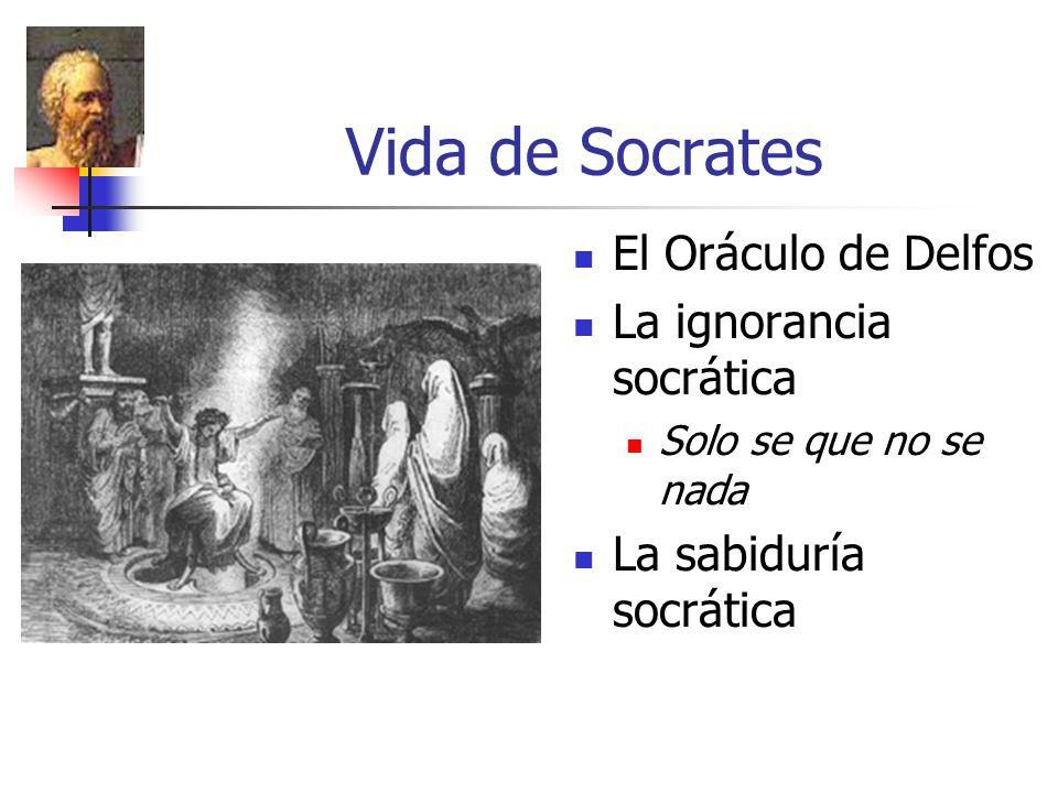 Vida de Socrates El Oráculo de Delfos La ignorancia socrática