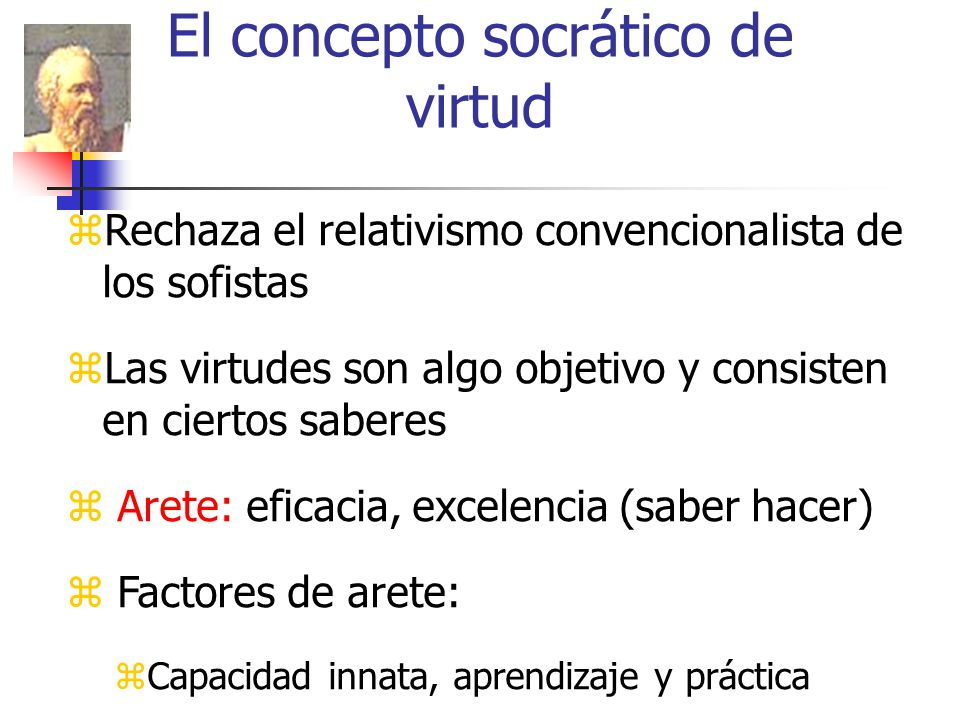 El concepto socrático de virtud