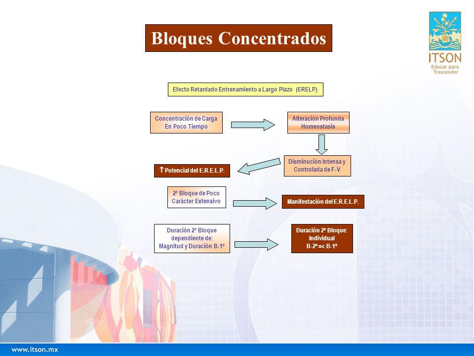 Bloques ConcentradosEfecto Retardado Entrenamiento a Largo Plazo (ERELP) Concentración de Carga. En Poco Tiempo.