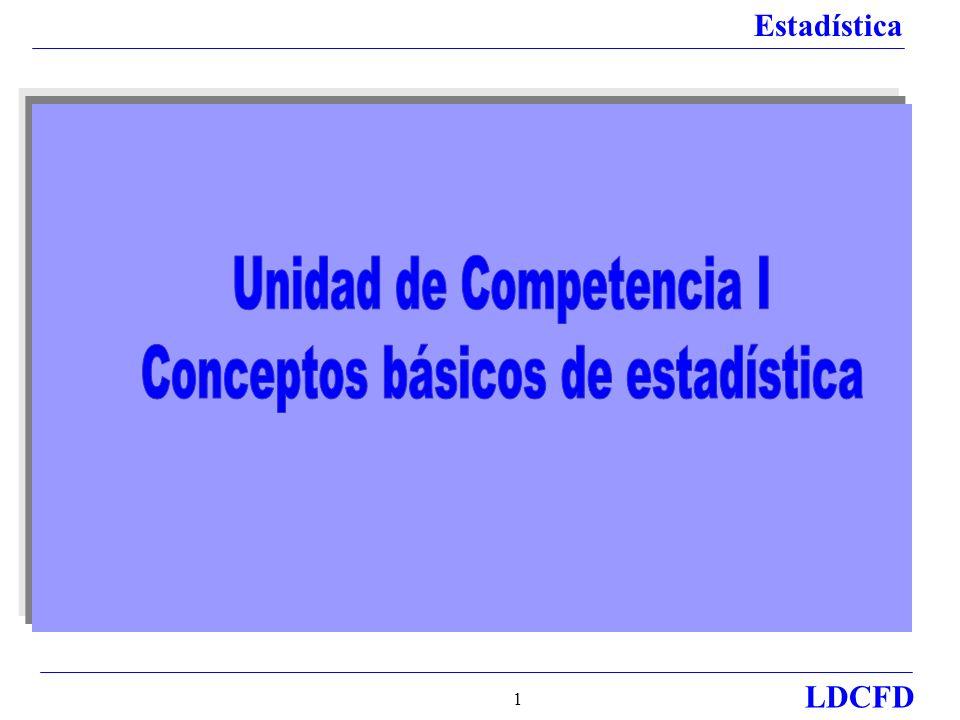 Unidad de Competencia I Conceptos básicos de estadística