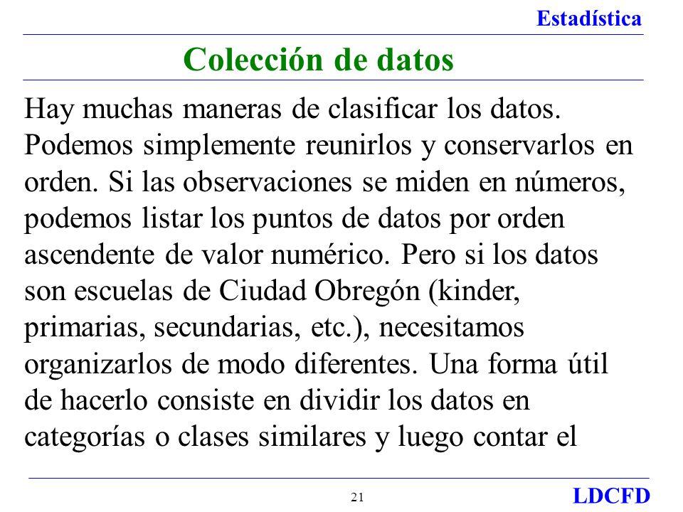 Colección de datos