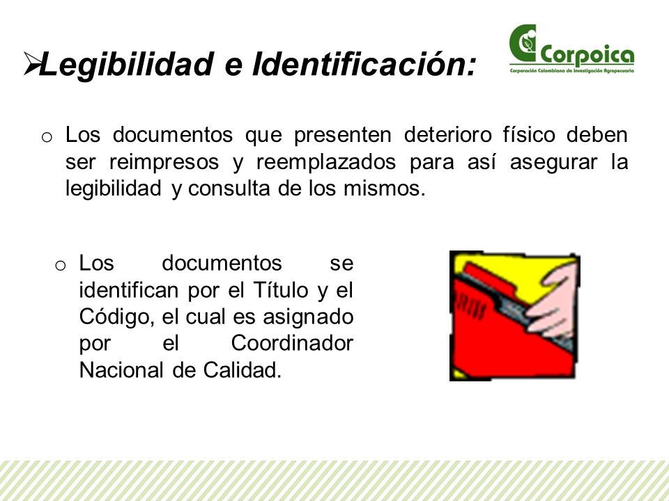 Legibilidad e Identificación: