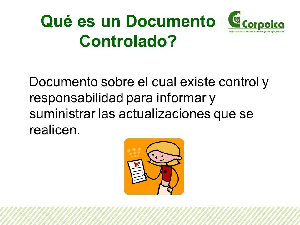 Qué es un Documento Controlado