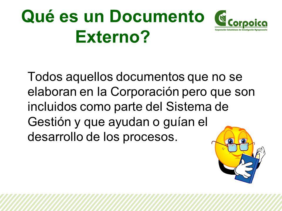 Qué es un Documento Externo