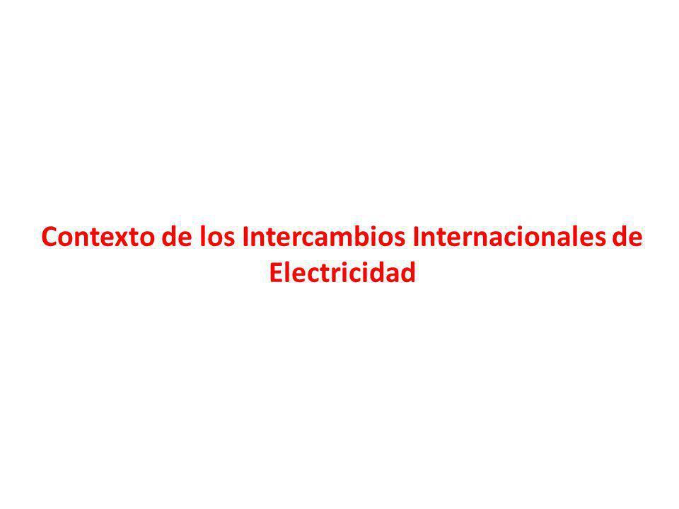 Contexto de los Intercambios Internacionales de Electricidad