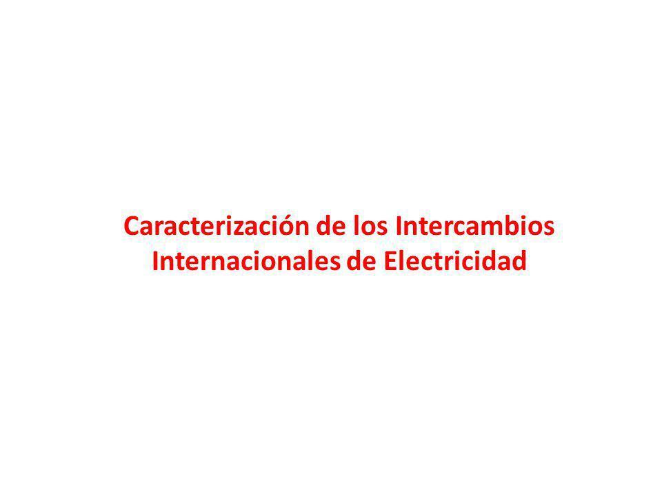 Caracterización de los Intercambios Internacionales de Electricidad