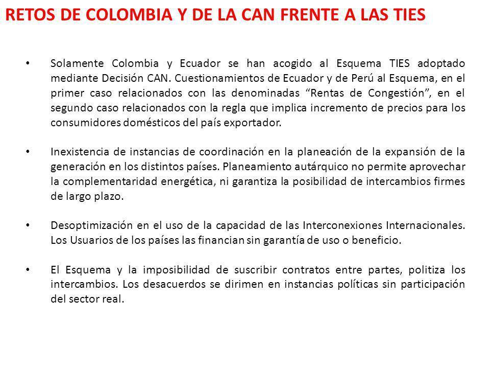 RETOS DE COLOMBIA Y DE LA CAN FRENTE A LAS TIES