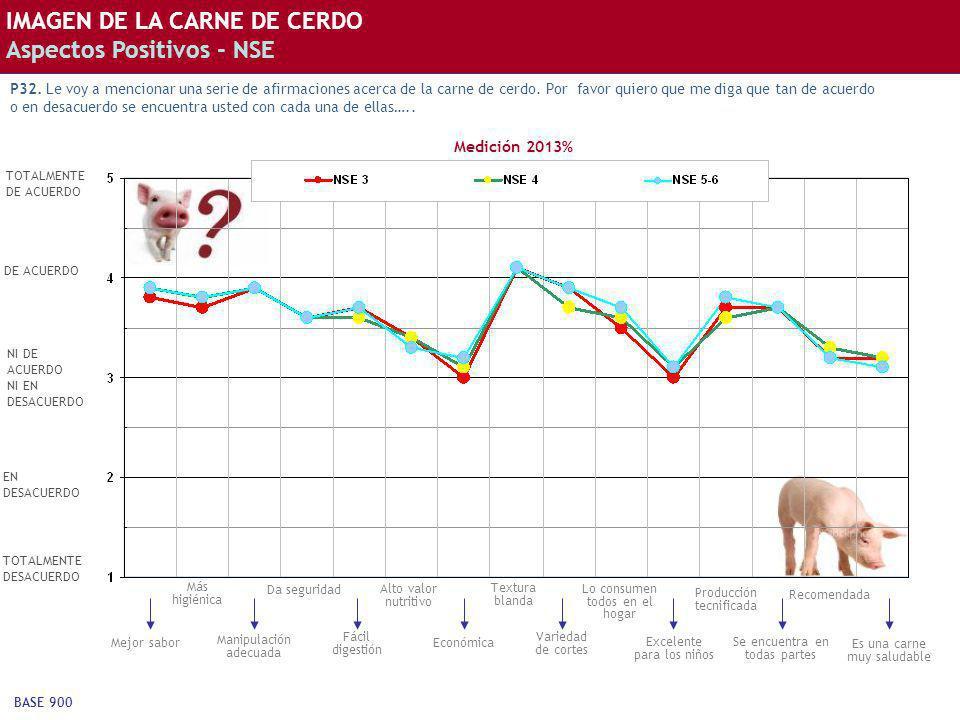 IMAGEN DE LA CARNE DE CERDO Aspectos Positivos - NSE
