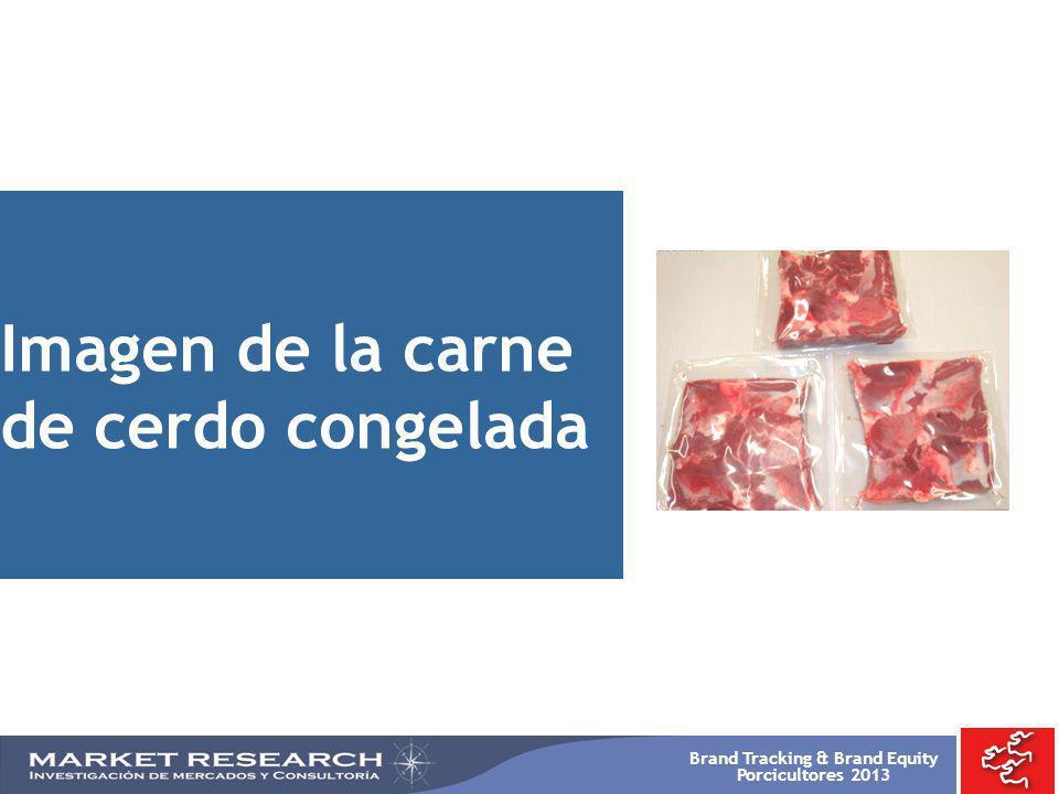 Imagen de la carne de cerdo congelada