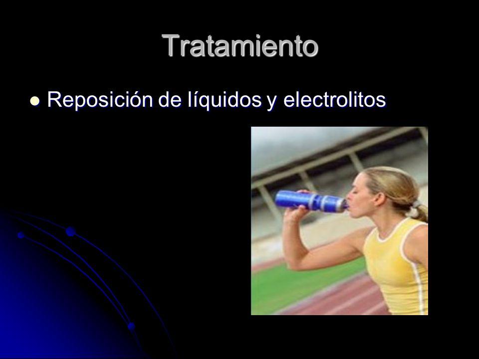 Tratamiento Reposición de líquidos y electrolitos