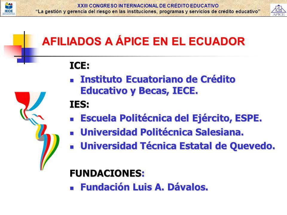 AFILIADOS A ÁPICE EN EL ECUADOR