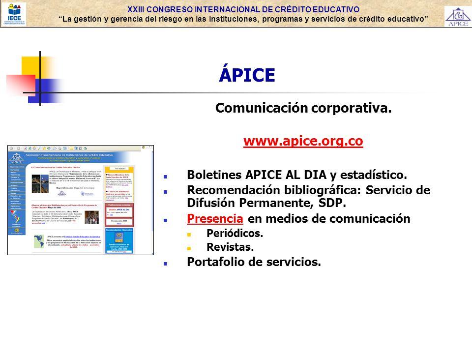 ÁPICE Comunicación corporativa. www.apice.org.co