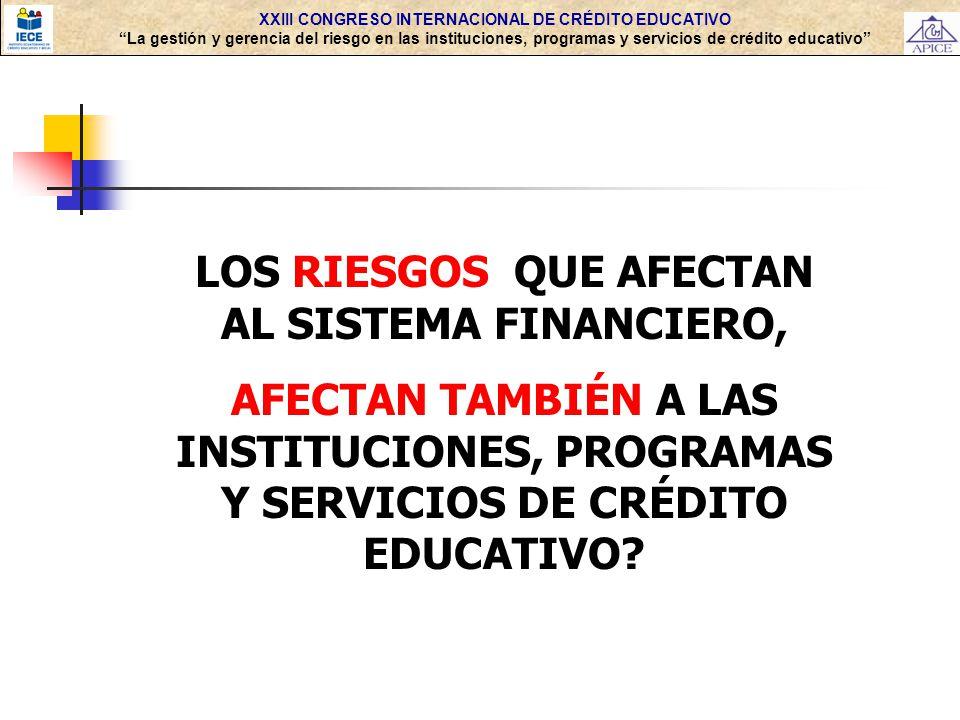LOS RIESGOS QUE AFECTAN AL SISTEMA FINANCIERO,